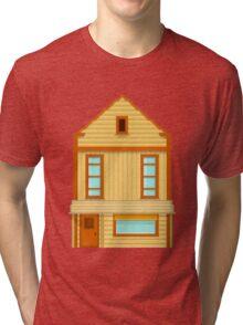 Wild West pixel House Tri-blend T-Shirt
