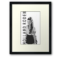 Holland Roden - Black and White Framed Print