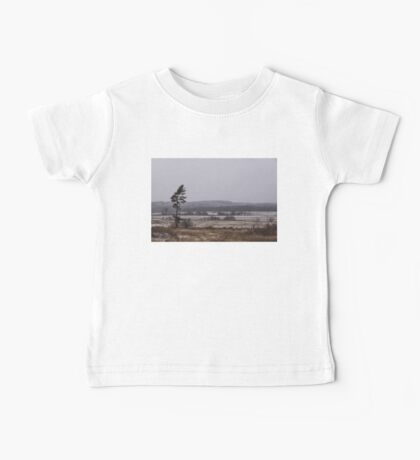 Canadian North - Lone Pine, Fields, Hills and Fresh Snow Baby Tee