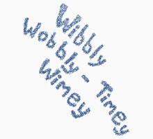 Wibbly Wobbly Timey Wimey in Blue & White Kids Tee