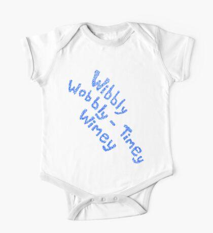 Wibbly Wobbly Timey Wimey in Blue & White One Piece - Short Sleeve