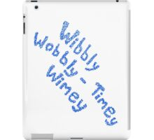 Wibbly Wobbly Timey Wimey in Blue & White iPad Case/Skin