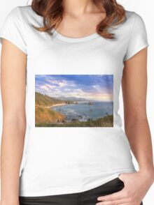 Crescent Beach at Oregon Coast Women's Fitted Scoop T-Shirt