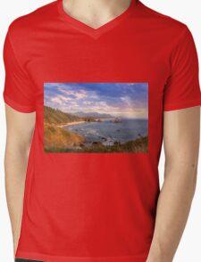 Crescent Beach at Oregon Coast Mens V-Neck T-Shirt