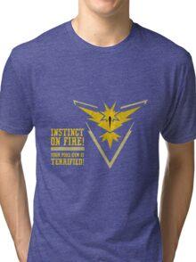 Pokemon Go - Instinct On Fire! Tri-blend T-Shirt