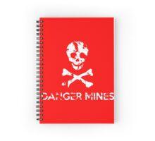 "Grungy ""Danger Mines"" Warning Spiral Notebook"