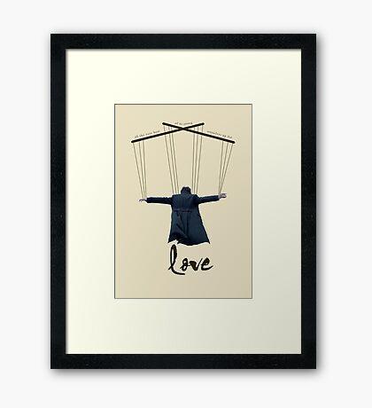BBC Sherlock - Vanderlyle Edit Framed Print