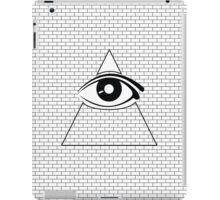 All Seeing Eye (Black/White) iPad Case/Skin