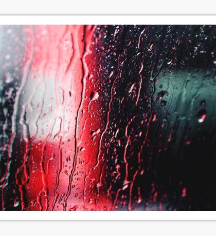 technicolor rain Sticker