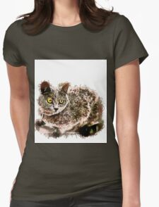 Gatito Gris  Womens Fitted T-Shirt