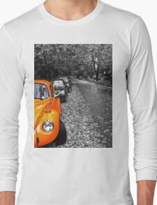 A Beautiful Autumn Day in the West End of Vancouver- Black and White Long Sleeve T-Shirt