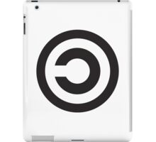 Copyleft Symbol - Support the Free Web! iPad Case/Skin