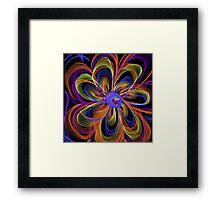 Flowing Flower Framed Print