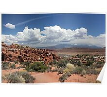 Salt Valley with La Sal Mountains Poster
