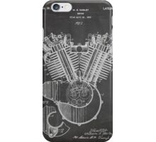 Harley Davidson Motorcycle Engine US Patent Art 1923 iPhone Case/Skin