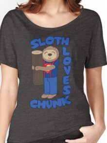 Sloth loves chunk Women's Relaxed Fit T-Shirt