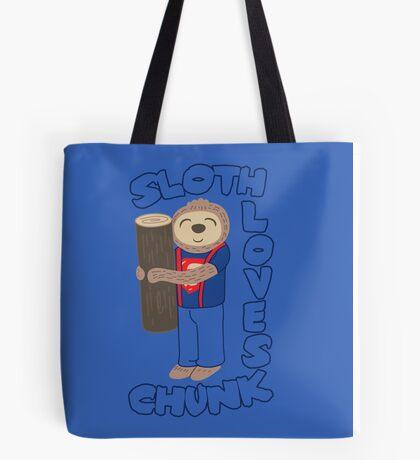 Sloth loves chunk Tote Bag