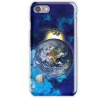 ISS, Moon and Earth. iPhone Case/Skin