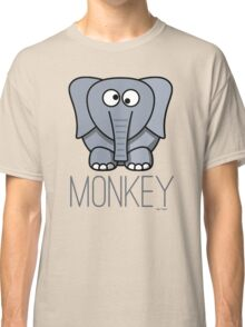 Funny Monkey Elephant Design Classic T-Shirt