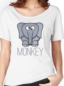 Funny Monkey Elephant Design Women's Relaxed Fit T-Shirt