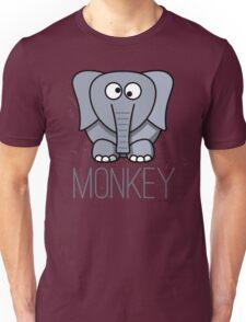 Funny Monkey Elephant Design Unisex T-Shirt