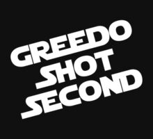 Greedo Shot Second T-Shirt by TeamPineapple