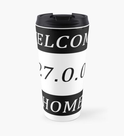 Typography network Travel Mug