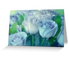Soft Blue Roses Greeting Card
