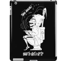 Grim Reaper need time break time to shot a shit cute and funny iPad Case/Skin