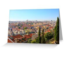 Lisbon Portugal cityscape Greeting Card