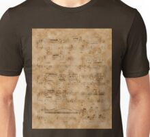 Vintage Music Sheet Page  Unisex T-Shirt