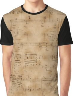 Vintage Music Sheet Page  Graphic T-Shirt
