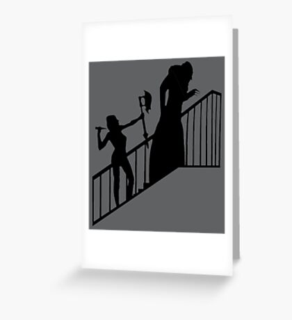 Buffy VS Count Orlok! Greeting Card