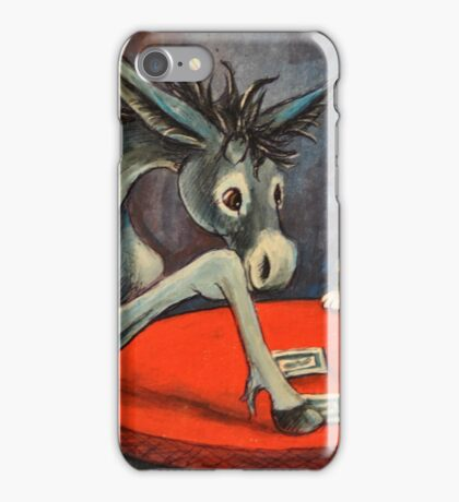 Donkey~Pembroke Corgi~Dog~Gamble in Cripple Creek~Colorado iPhone Case/Skin