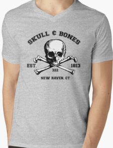 Skull and Bones T-Shirt Mens V-Neck T-Shirt