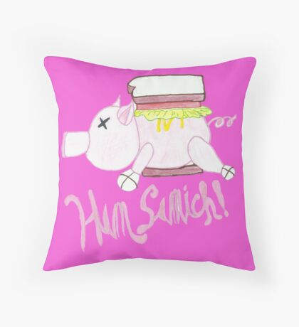 Ham Samich  Throw Pillow