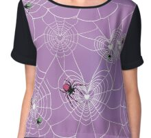 Halloween Spider Love Chiffon Top