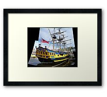 Hornblower's Man o' War Framed Print