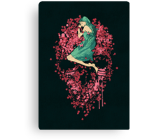 Sleeping on Bed of Roses Canvas Print
