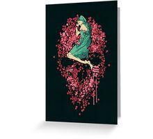 Sleeping on Bed of Roses Greeting Card