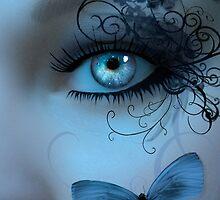 Butterfleye In Blue by Stephanie Rachel Seely