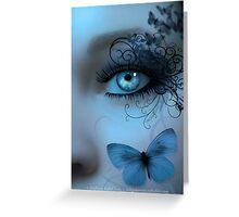 Butterfleye In Blue Greeting Card