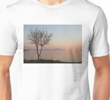 Soft, Pink Morning on the Lake Shore Unisex T-Shirt