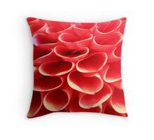Orange Circle Petals Throw Pillow