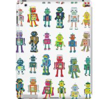 Robot Line-up on White iPad Case/Skin