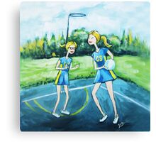 Saturday Netball Canvas Print