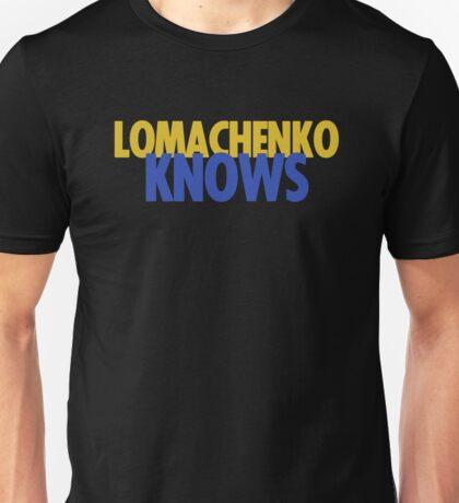 "Vasyl Lomachenko ""Knows"" Unisex T-Shirt"