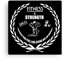 Strength & Fitness Canvas Print