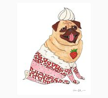 Strawberry Pug - Cute Cake Pug Unisex T-Shirt