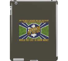 Starship Troopers Propaganda grunge flag iPad Case/Skin